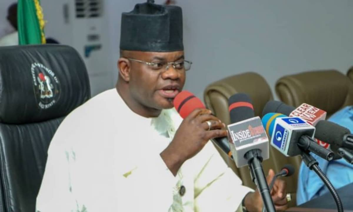 COVID-19: Governors received N1billion each from Buhari, N1.1billion from World Bank – Yahaya Bello