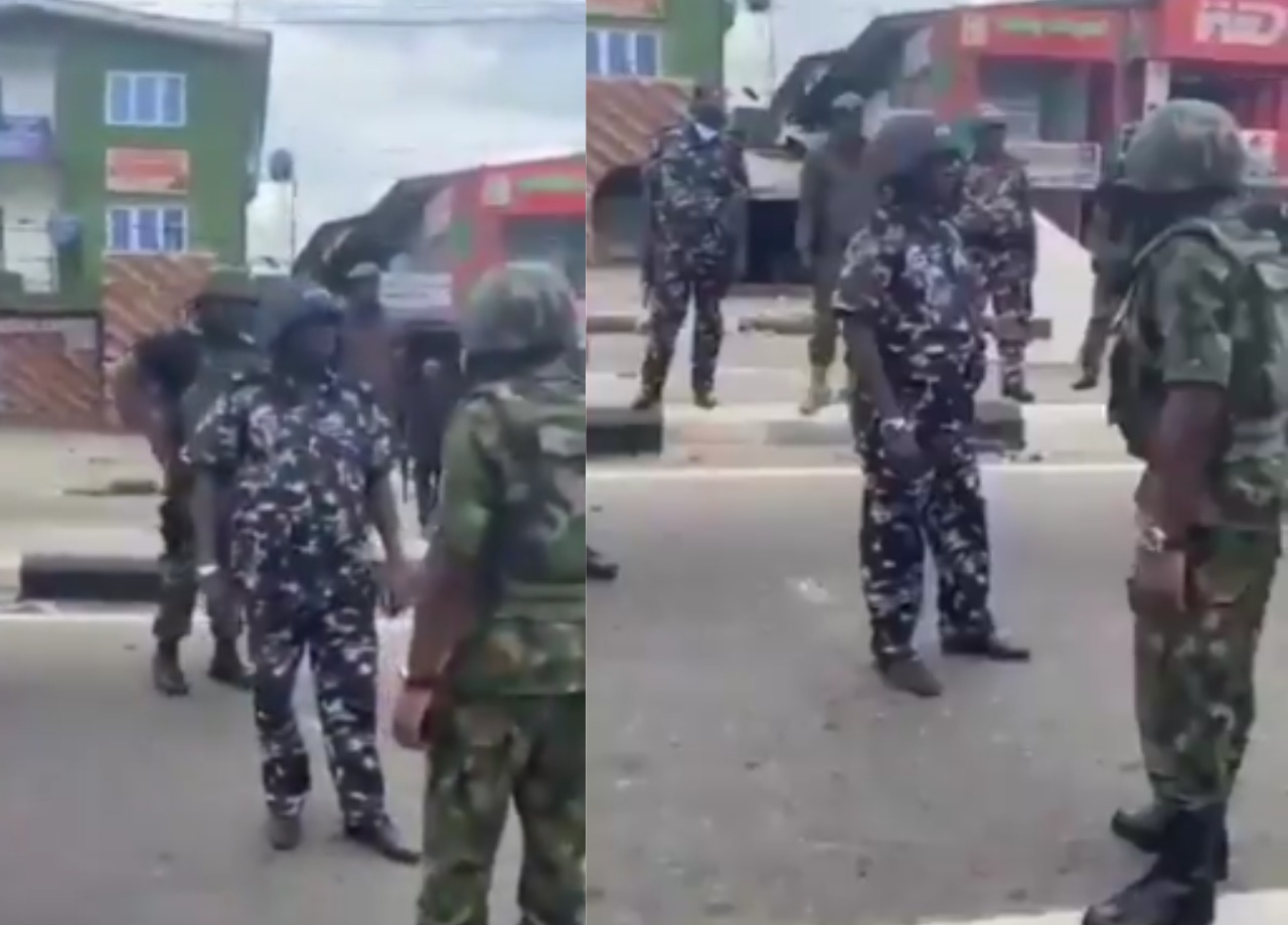 End SARS: 'Stop shooting protesters' – Air Force officer blasts policemen [VIDEO]