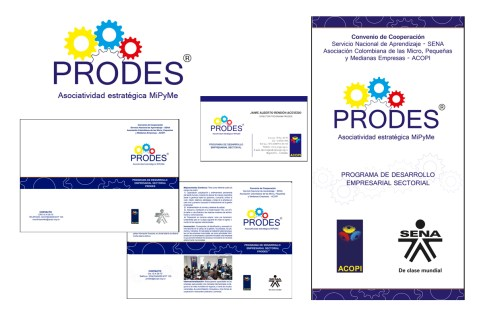 Client: Sena / Acopi Nacional - Work: Design the corporate identity and corporate stationery of PRODES (programa de desarrollo sectorial) - Company: Pisón MyP