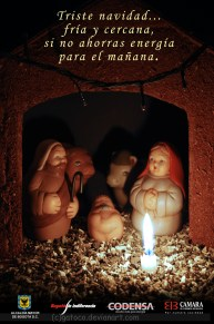Grade: Photography - Campaign: Saving energy in Christmas - Client: Codensa - Reference: candle