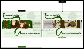 Grade: Digital design - Campaign: Dont print, send an E-mail - Reference: Monkeys