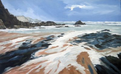 Incoming Tide at Sandy Mouth by Lawrence Dyer