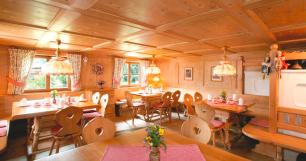 Original Walserstube als Frühstücksraum