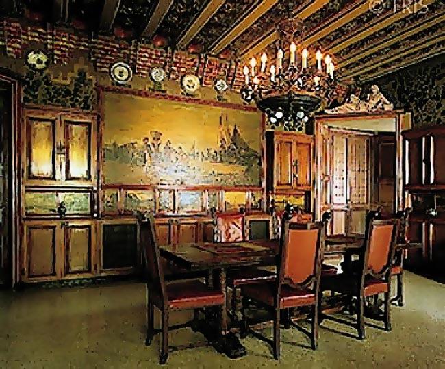 Gaudi Designer Casa Vicens Gt Cabinet Work Dining Room