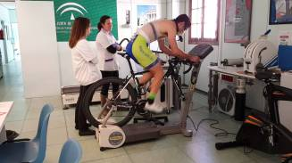 EKG + breathing test on a bike