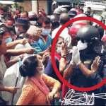 नेपाल प्रहरीको उत्कृष्ट कार्य : भिड नियन्त्रणमा लिन प्रदर्शनकारीलाई हात जोड्दै प्रहरी