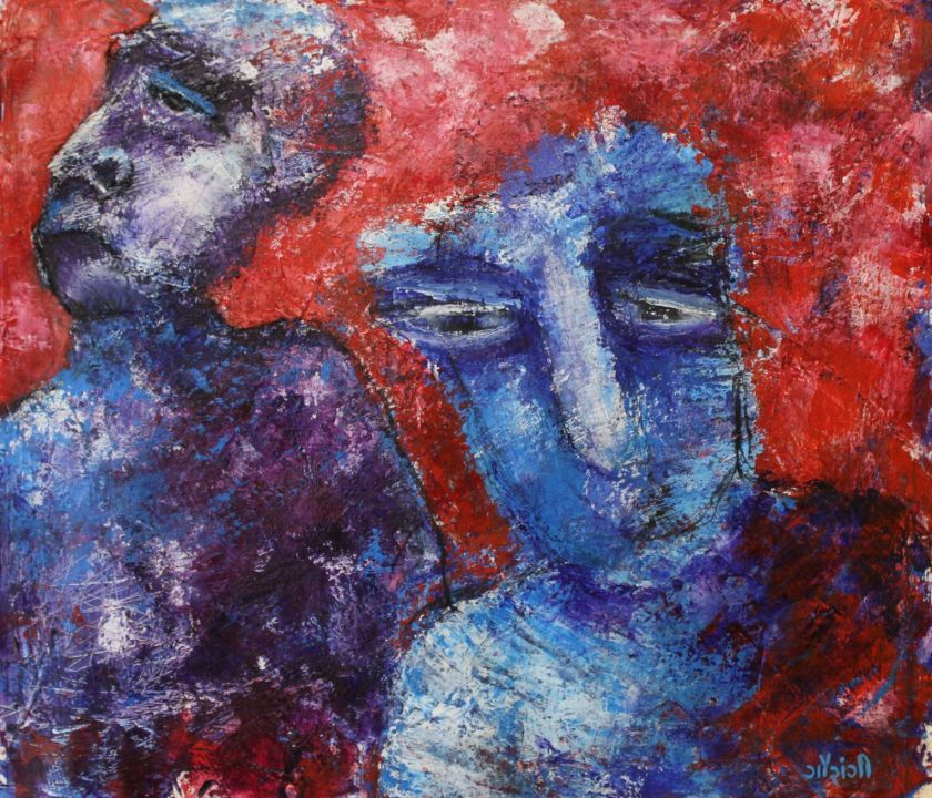 Title: Seeking approval, a constant tiring struggle Medium: Acrylic and charcoal on canvas Size: 20.8 * 18inches / 52.83*45.72 cm (2018) Artist: gaurangi mehta shah