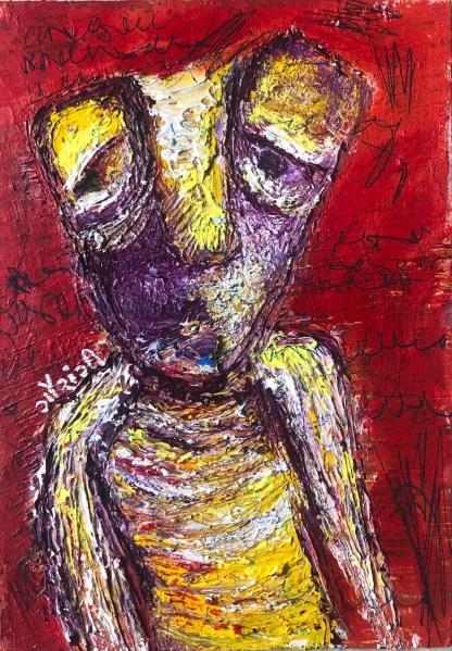 Title: a look of perplexity. Artist: gaurangi mehta shah