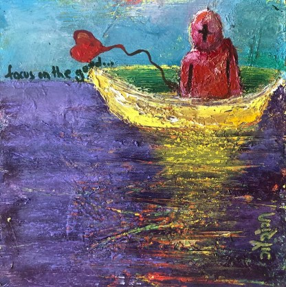 focus on the good. artist: gaurangi mehta shah