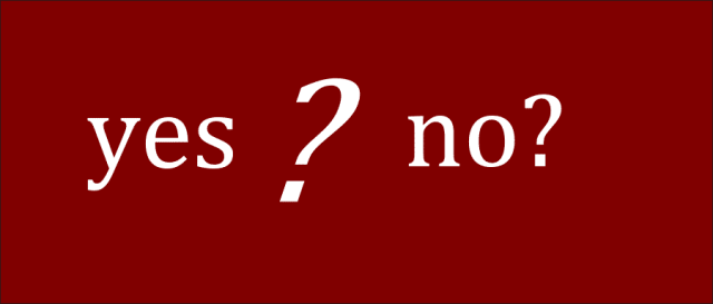 yes no puzzle