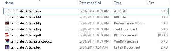 compiled files
