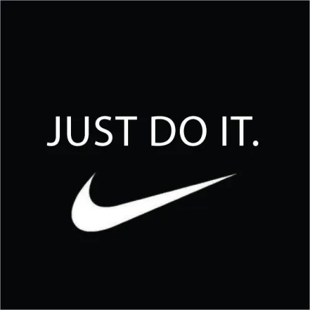 Nike logo saying Just do it