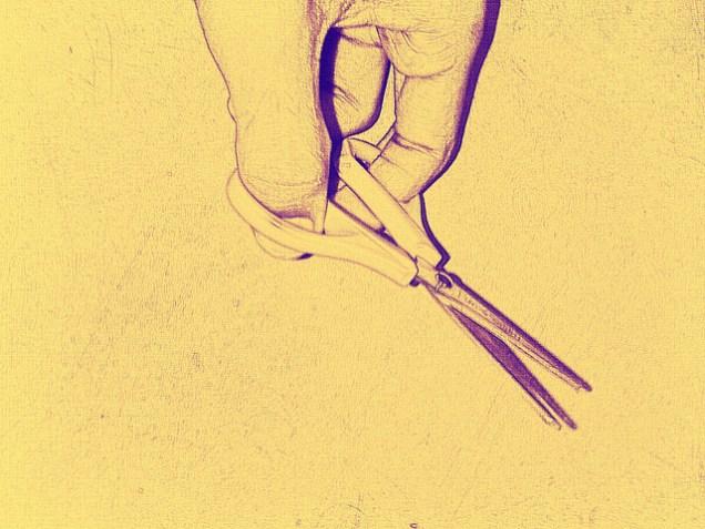 Hand with Scissors