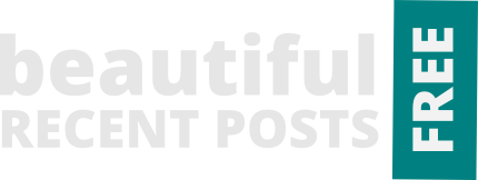 beautiful recent posts widget free