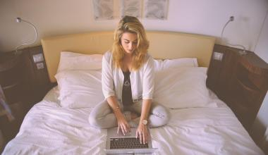person woman hotel laptop jpg