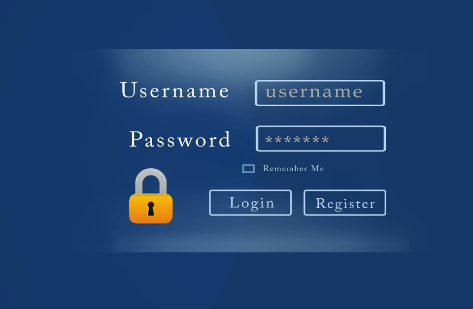 secure username password image