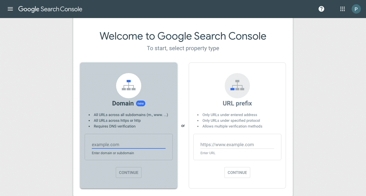 Google Search Console Setup Step 2