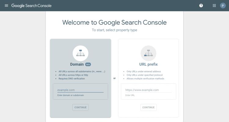 Google Search Console Setup Step 2