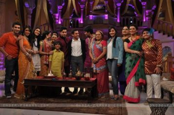 Aamir Khan with the star cast of star plus serials