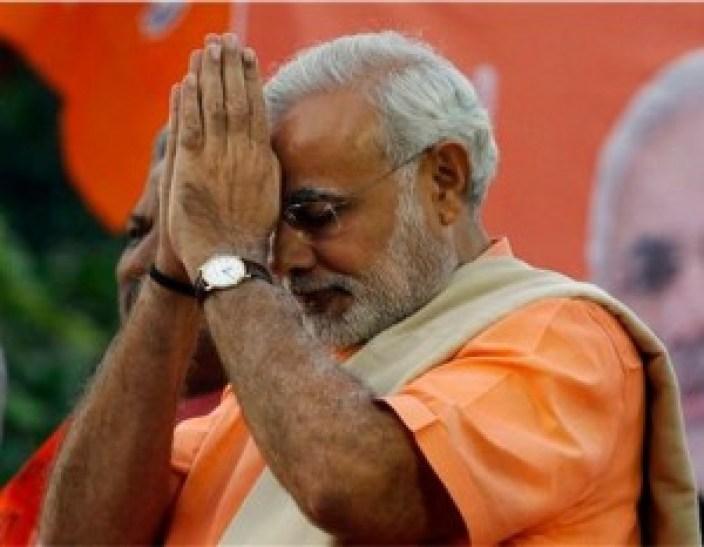 भाजपा की ओर से प्रधानमंत्री पद के प्रत्याशी नरेंद्र मोदी