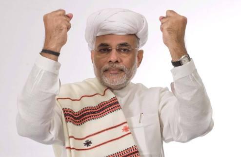 भाजपा के प्रधानमंत्री पद के प्रत्याशी और गुजरात के मुख्यमंत्री नरेंद्र मोदी
