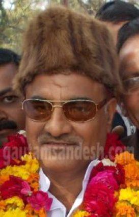गुन्नौर विधान सभा क्षेत्र के सपा विधायक राम खिलाड़ी सिंह यादव।