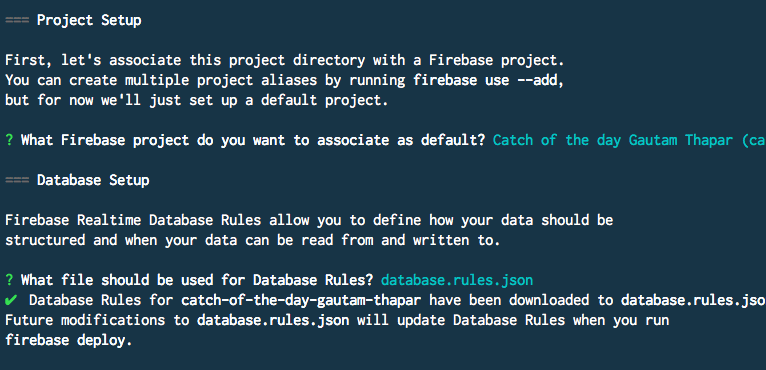 Firebase database rules file