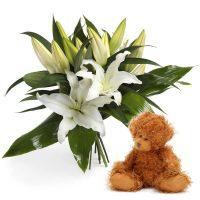 Blomsterbukett til baby Image