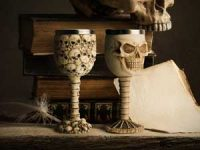 Dødninghode-vinglass Image
