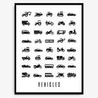 Poster til barn - kjøretøy Image