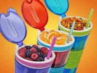 Snackeez 2 in 1 Mellommåltid - Drikk og spis av samme beholder Image