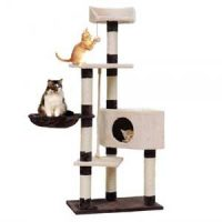 Stort aktivitetssenter til katt med platå, hule og leker 145cm Image