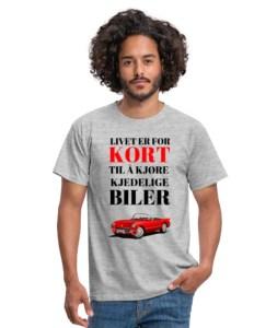 T-skjorte - Livet er for kort til å kjøre kjedelige biler (mann) Image