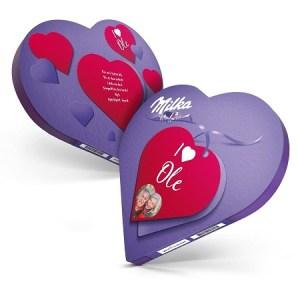 Milka hjertesjokolade med navn og bilde Image