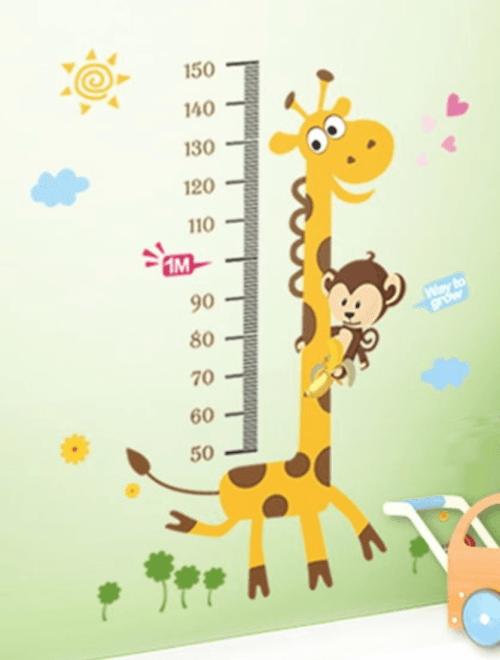 Giraf og abe wallsticker