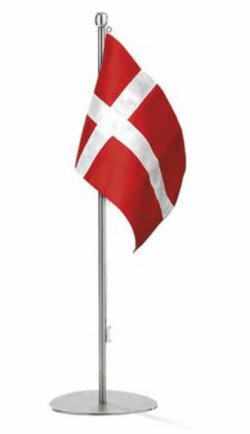 Bordflag, Piet Hein flagstang, flag, dåbsgave fra gudmor, dåbsgave fra fadder, dåbsgave fra fader, barnedåbsgave, barnedåbs gave, dåbsgave flag,flag til barnedåb,flag med indgraveret navn,sølvflag,sølvflag til barnedåb,dåbsgaver med indgravering