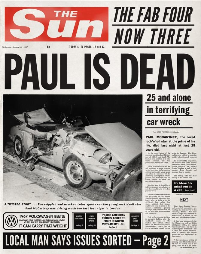 Paul is Dead The Sun