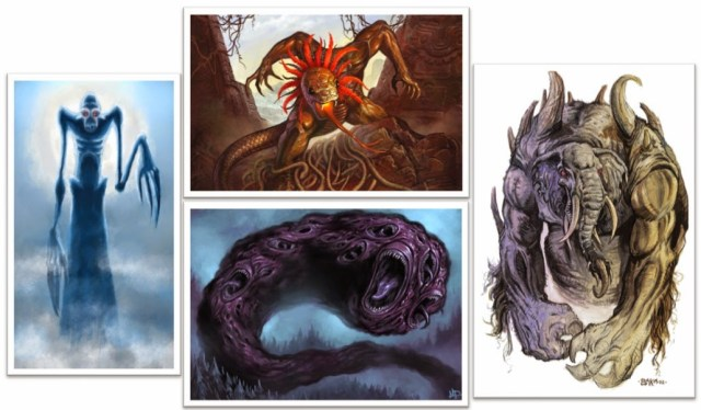 Lovecraft Mitos de Cthulhu Horror Cósmico mitologia lovecraftiana grandes antigos weird tales livro dos mortos clark ashton smith deuses Dagon Hastur Itaqua, Yig, Shub-Nigurath e Chaugnar Faugn.