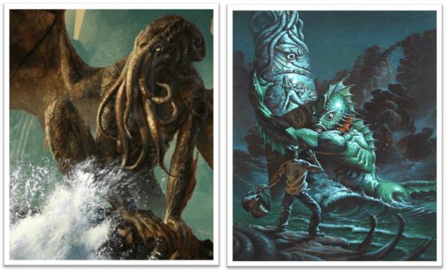 Lovecraft Mitos de Cthulhu Horror Cósmico mitologia lovecraftiana grandes antigos weird tales livro dos mortos clark ashton smith deuses Dagon