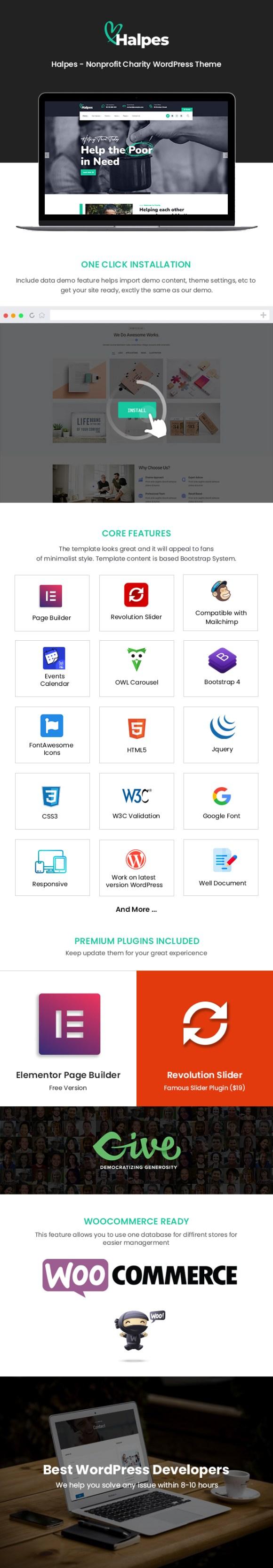 Halpes WordPress Theme