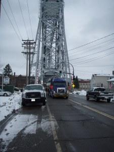 Crossing the Lift Bridge