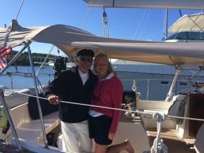 July 19 Frances and Jim on Minnehaha (Gozzard G44)