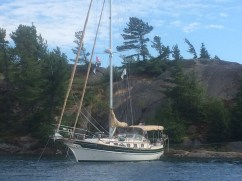 July 21 Med-moored to a rock