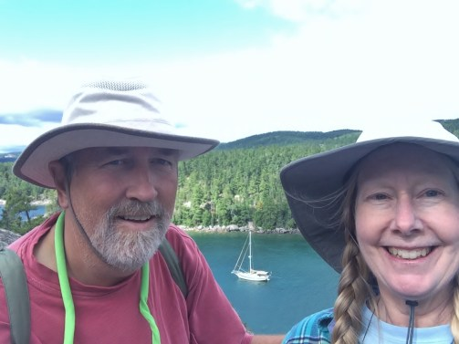 August 11 Sinclair Cove selfie with Gaviidae far below