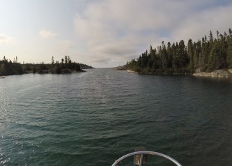 August 27 Nicols Harbour - the entry/exit to this perfect little cove