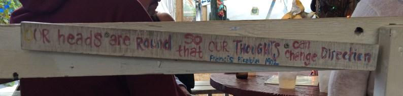 September 26 Tom's Burned Down Cafe