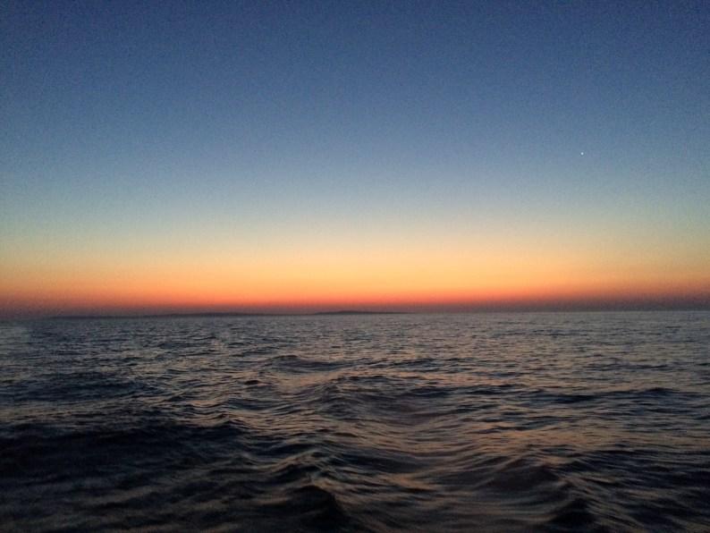 September 4 Sunrise as we cross Lake Superior