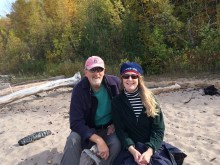 October 10 The beach at Black River Harbor