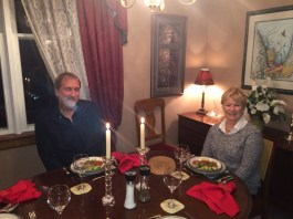 November 23 Dinner with Jerry and Clare in Bolton, ON