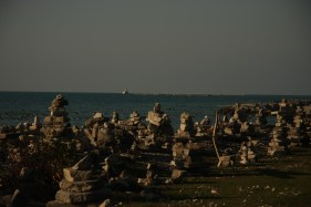 November 11 Village of Inuksuks along the beach in Goderich
